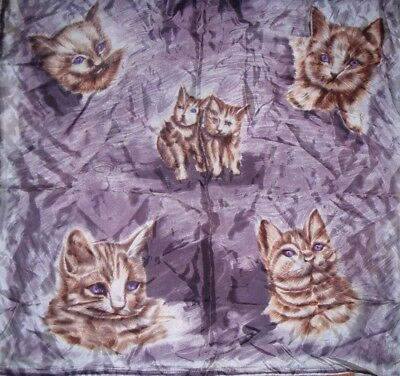 Gorgeous Ginger Cats Vintage Scarf