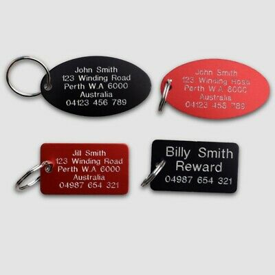 Luggage ID Tags Traditional Deep Engraved