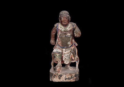 China 17./18. Jh. Holzfigur - A Chinese Carved Wood Figure Ming / Qing - Chinois