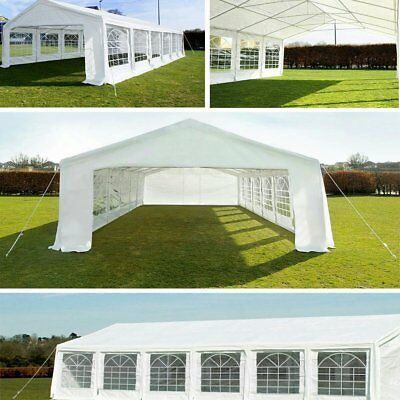 20' x 40' White Outdoor Gazebo Canopy Wedding Party Tent with Removable Walls US