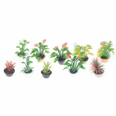 Garden Plant Flower Potted Model For 1/12 Dollhouse Doll House Miniature Hot