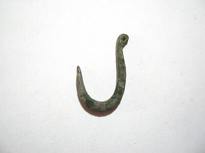 Ancient Roman Bronze Fishing Hook ca.2nd-3rd Century AD