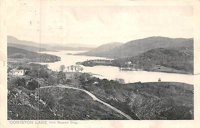 Cumbria Coniston Lake from Beacon Crag 1906
