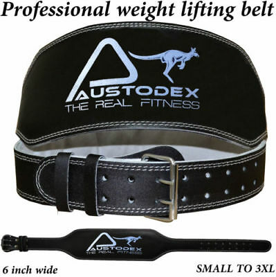 """GLADIATOR 6"""" Weight lifting bodybuilding back support weightlifting Leather Belt"""