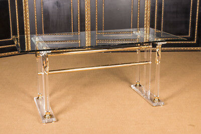 Exclusive Acrylic Dinner Table With Gold L.170 Cm X T.85 Cm