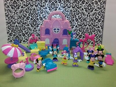 """Disney Minnie Mouse Daisy 3"""" Bowtique Playsets house 47 pieces Christmas Gift"""
