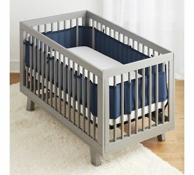 BreathableBaby® Classic Breathable® Mesh Crib Liner- True Navy