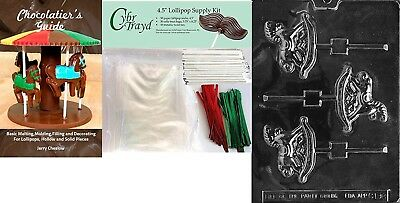 Cybrtrayd Rocking Horse Lolly Chocolate Mould with Chocolatier's Bundle of 50