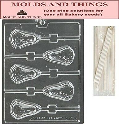 Large Lacrosse Lolly Chocolate Candy Mould With © Moulding Instruction + 50
