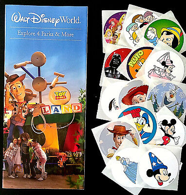 NEW 2018 Walt Disney World Theme Park Guide Maps - 4 Parks 1 Brochure ++ Bonus!