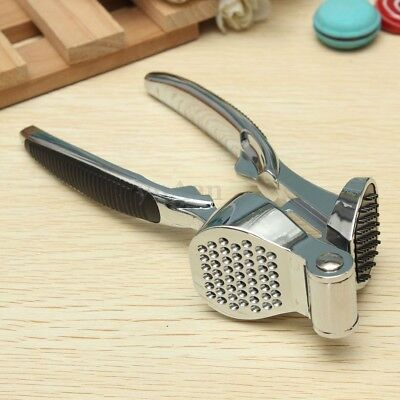 Pro Heavy Duty Zinc Alloy Metal Garlic Press Crusher Slicer Grinder Tool Grip