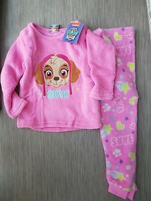 Primark Paw Patrol Girls Skye warm fleece pyjamas set 2-5 years