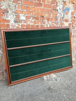 Large Double-Sided Mahogany Notice Board Lined With Green Velour - Board