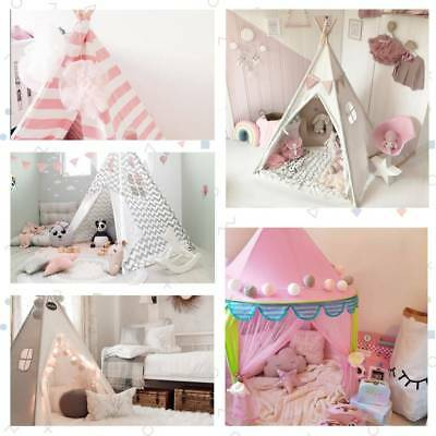 Large Cotton Kids Teepee Tents Childrens Wigwam Indoor Outdoor Play House Tipi