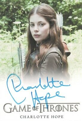 Game of Thrones Season 6, Charlotte Hope 'Myranda' Auto Card