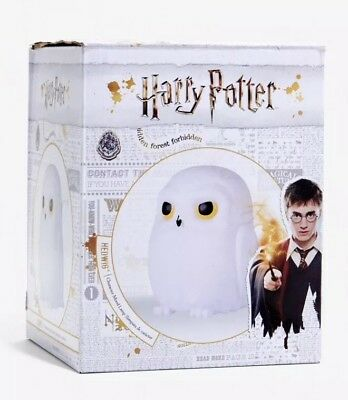 """Harry Potter Hedwig Owl 5 3/4"""" Figural LED Color Changing Mood Lamp New In Box!"""