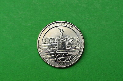 2011-P  BU  Mint State (Gettysburg) US National Park Quarter