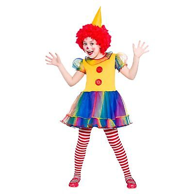 Cute Little Clown Circus Fun Performer Childs Kids Girls Fancy Dress Costume