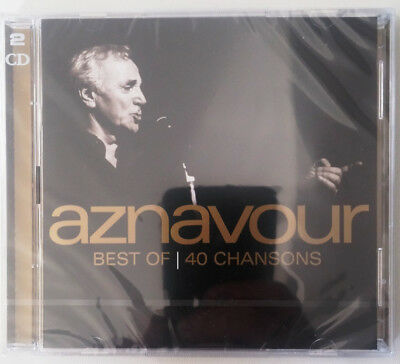 BEST OF 40 CHANSONS - AZNAVOUR CHARLES (CD x2) NEUF SCELLE
