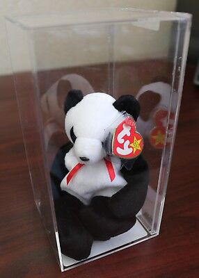 *Authenticated* FORTUNE the PANDA BEAR -Ty Beanie Baby- RARE & RETIRED w/ERRORS