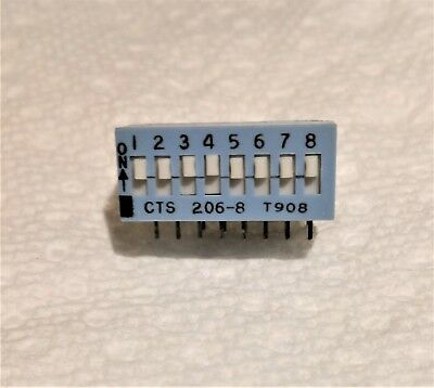 CTS 206-8RAST 8-Position Right Angle DIP Switch Sealed for washing