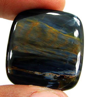 29.75 Ct Natural Golden Blue Pietersite Loose Chatoyant Cab Gemstone Stone-19678