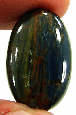 15.25 Ct Natural Golden Blue Pietersite Loose Chatoyant Cab Gemstone Stone-19580
