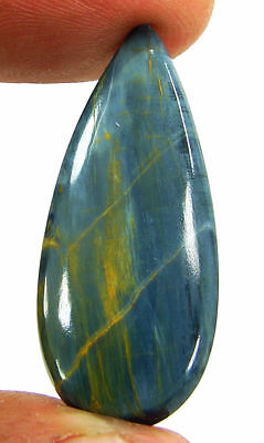 15.35 Ct Natural Golden Blue Pietersite Loose Chatoyant Cab Gemstone Stone-19571