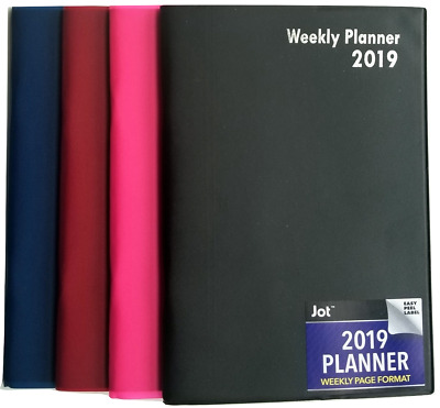 2019 Weekly Pocket Planner 3-3/4 in x 6-1/2 in colors may vary