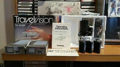 2 1981 Panasonic Travelvision  UHF VHF TR 1010P FOR REPAIR or parts.