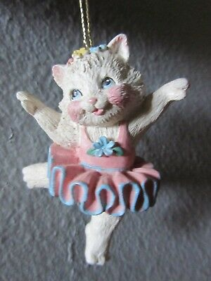 Enesco Calico Kittens ballerina ornament
