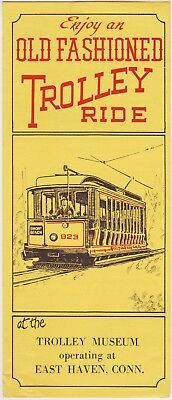 1961 The Trolly Museum East Haven Connecticut Brochure