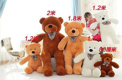 2018 Cute Huge Soft 100 Cotton Valentine Teddy Bear Plush Baby Soft Toys Gifts A