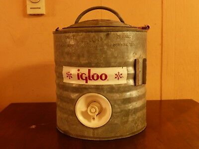 Vintage IGLOO Galvanized Industrial Water Cooler 2 Gallon Heavy Duty Rare