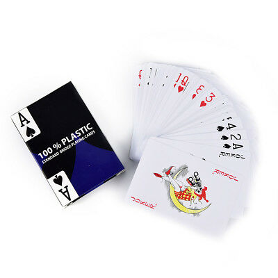 1pc blue baccarat texas holdem plastic playing poker cards bridge game KQ