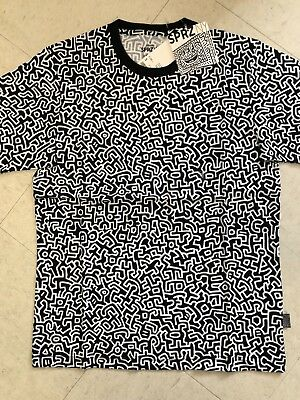 Keith Haring X UNIQLO SPRZ NY Monogram T-shirt Black US size S-XL MoMa New York