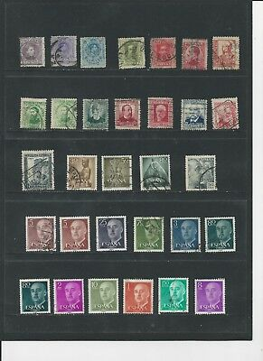 SPAIN - COLLECTION OF USED STAMPS (2 SCANS) - #SPA4ab