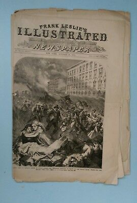 Frank Leslie's Illustrated Complete 11/28/1871  The Chicago Fire