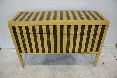 "New York wood strip 56"" dresser with 6 drawers"