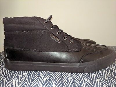 New With Box Lugz Mens Black Canvas Clipper Shoes Sneakers MCLIPRC-001 Size 10.5