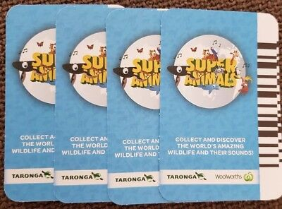 Woolworths SUPER Animals Cards.  Blue and Green. Any cards 5 for $1.00