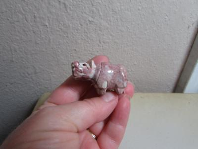 Hippopotamus, Hand carved Marble from the Andes of Peru, Miniature Hippo, Unique