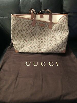 61cd0315c160 Auth GUCCI GG Supreme Star Shoulder Tote Bag Leather X Canvas Beige x Pink  Used