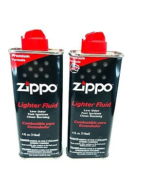 Genuine Zippo 3141 4FC 4 Oz Can Fuel Fluid ( Pack of 2 Cans )
