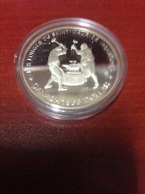 1988 Canada One Dollar Proof Silver Coin - Saint Maurice Iron Works