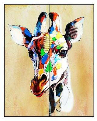 Morden Art Wall Hand Painted Colorful Deer Animal Oil Painting Canvas Home Decor