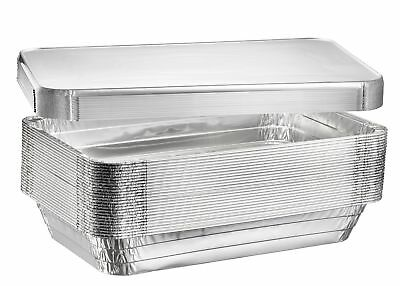 Full Size Deep Steam Table Pans, Disposable Aluminum Chafing and Catering Pans