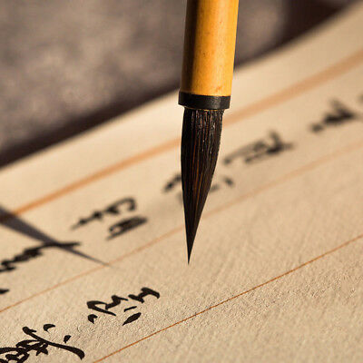 Chinese Calligraphy Brush Pen Painting Script Writing Wolf Hair Traditional