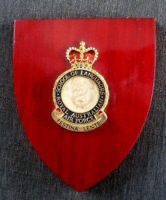 Military Plaque RAAF School of Languages Point Cook Collectable Item