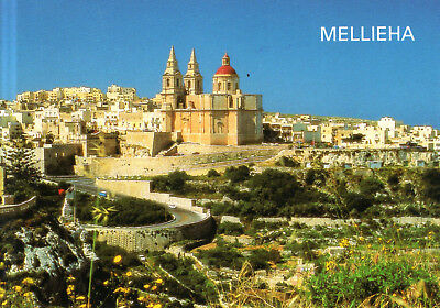 Malta  -  Mellieha - Village centre and the church of the Nativity of Our Lady
